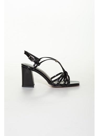 Derithy Derithy-Klasik Topuklu Ayakkabı-Platin Siyah